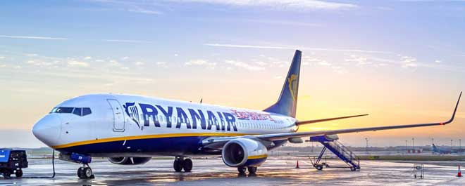 Dublin Airport terminal 1 : a picture of Ryanair plane