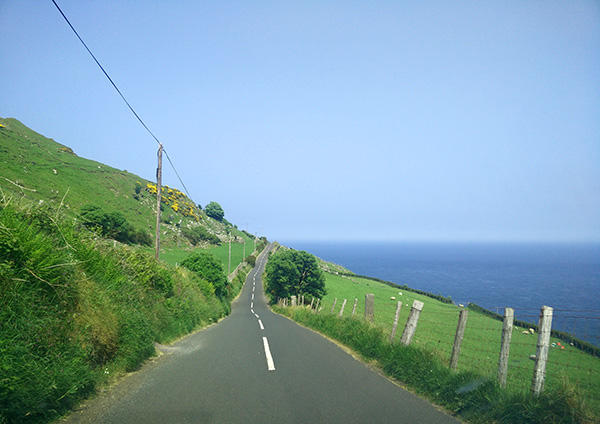 Torr Head road on Causeway Coast