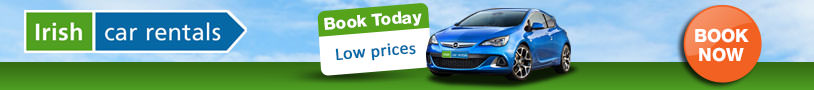 Ad to book a car rental for Ireland