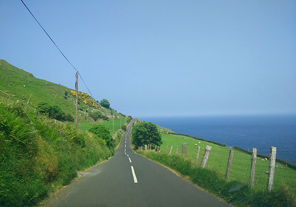 The coast view of Causeway Coastal Route