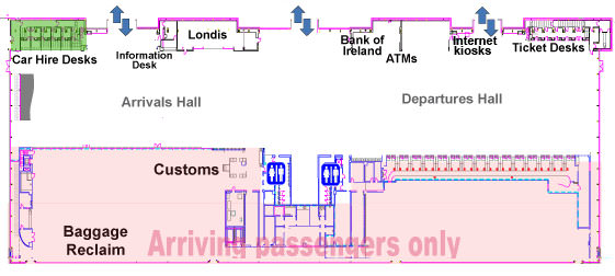 Cork Airport Arrivals Map