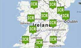 Map of rental locations in Ireland