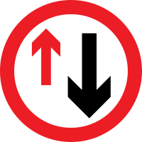 Yield to oncoming traffic