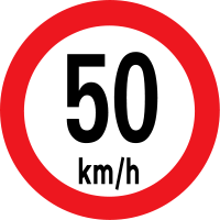 Max Speed limit 50km/h