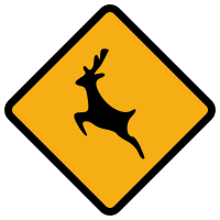 animals sign wild road svg diamond signs warning file wikimedia commons wikipedia traffic ireland pixels
