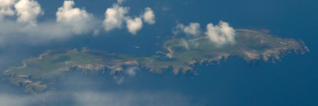 Aerial view of Tory Island